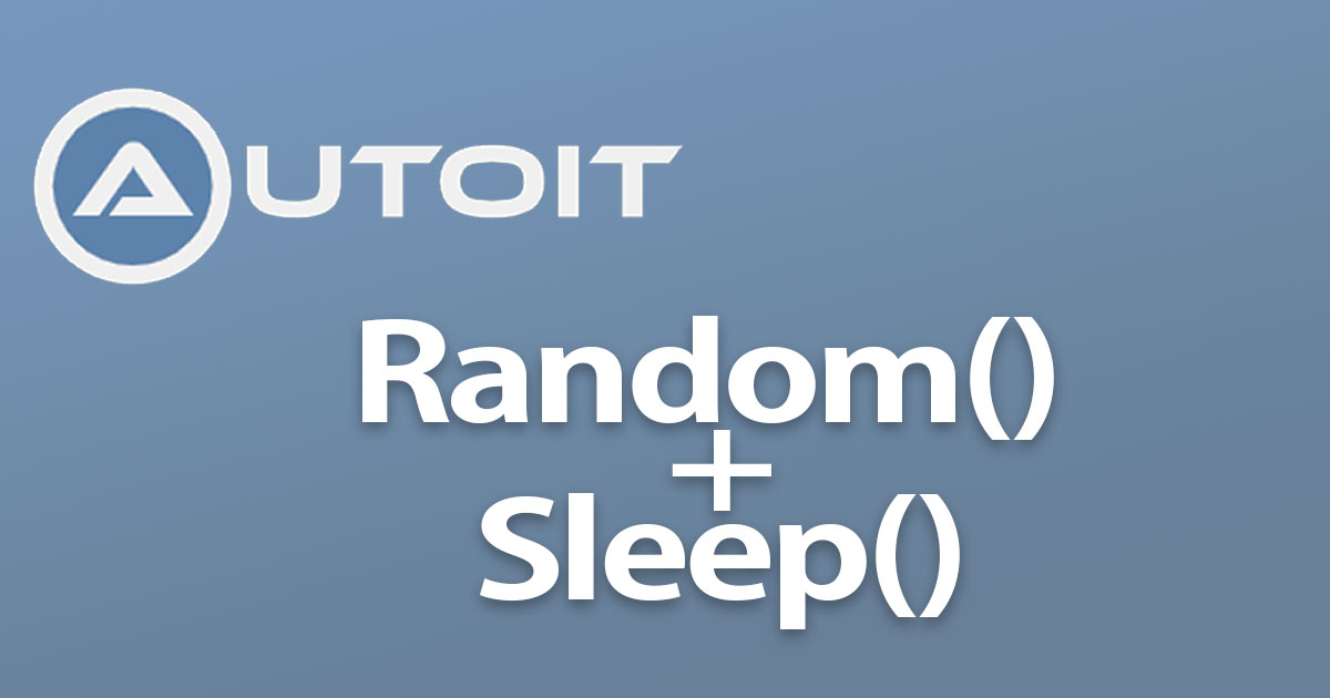 autoit random sleep