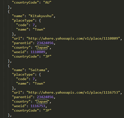 node.js twitter api WOEID取得