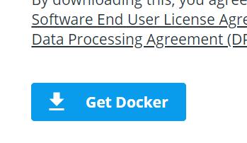 Get Dockerボタンを押してダウンロード